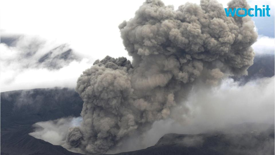 Volcano Expands Japanese Island